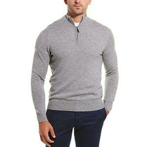 Qi Cashmere 1/4 Zip Mock Neck Sweater